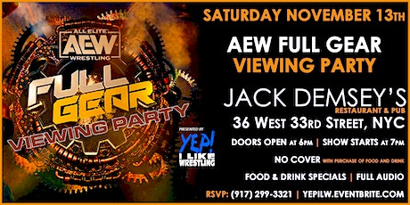 AEW Full Gear Viewing Party @ Jack Demsey's tickets