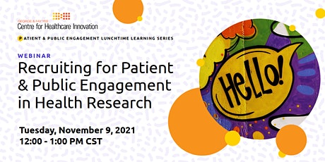 PE Lunchtime Learning: Recruiting for Patient Engagement tickets