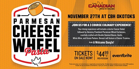 Cheese Wheel Pasta Night (Okotoks) tickets