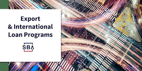 SBAs Export and International Trade Loan Programs - December 2 tickets
