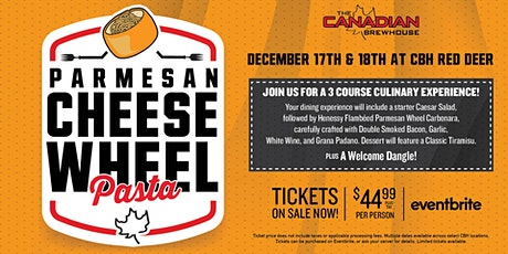 Cheese Wheel Pasta Night (Red Deer) - Saturday tickets