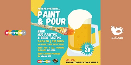 Paint & Pour with Artbae: Beer Mug Painting & Beer Tasting at metrobar DC! tickets