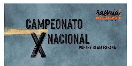 Gran final del X Campeonato Nacional Poetry Slam España entradas