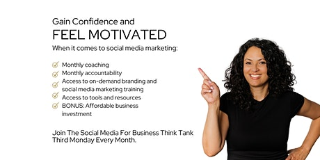 Social Media Marketing Group Coaching and Accountability tickets