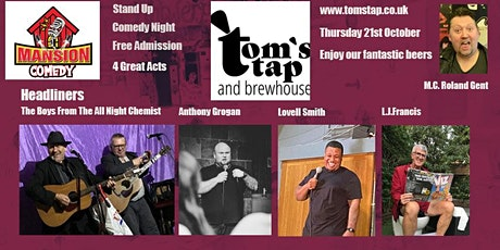 Free Comedy At Tom's Tap And Brewhouse, Crewe tickets