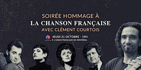 Soirée Hommage à la chanson française avec Clément Courtois billets