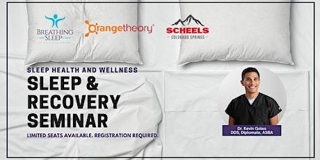 Sleep & Recovery Seminar tickets