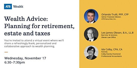 Wealth Advice: Planning for retirement, estate, and taxes tickets