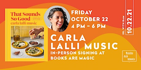 Carla Lalli Music In-Person Signing at Books Are Magic tickets