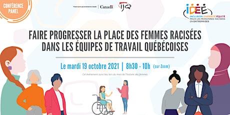 Conférence panel | Les femmes racisées dans les entreprises québécoises billets