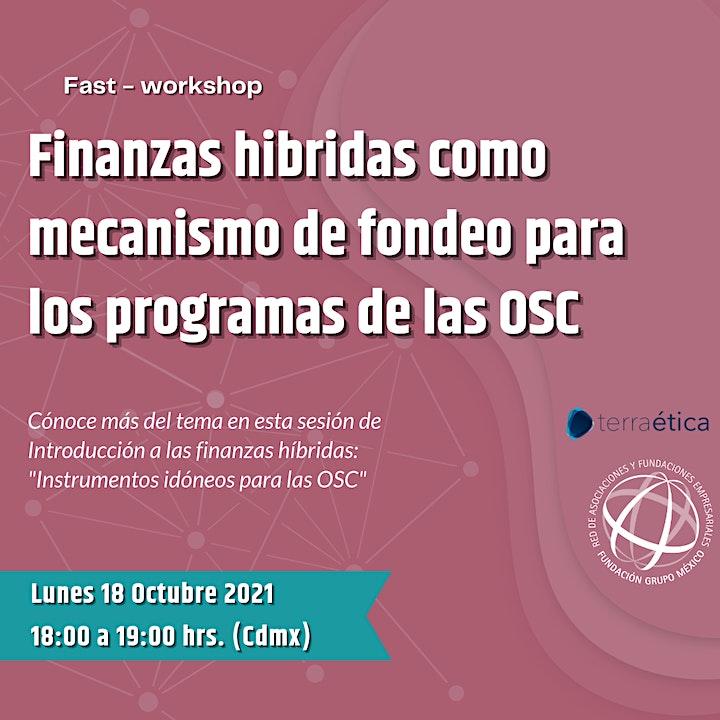 Imagen de Finanzas hibridas como mecanismo de fondeo para los programas de las OSC