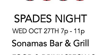 Spades Night @ Sonomas tickets