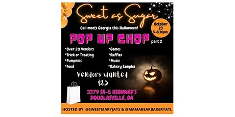 Sweet as Sugar: Cali meets Georgia this Halloween tickets