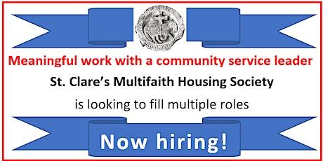 WoodGreen Employment  & St. Clare's Multifaith Housing Hiring Info Event tickets