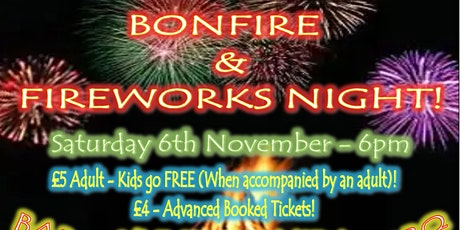 Hanwood Bonfire And Fireworks tickets