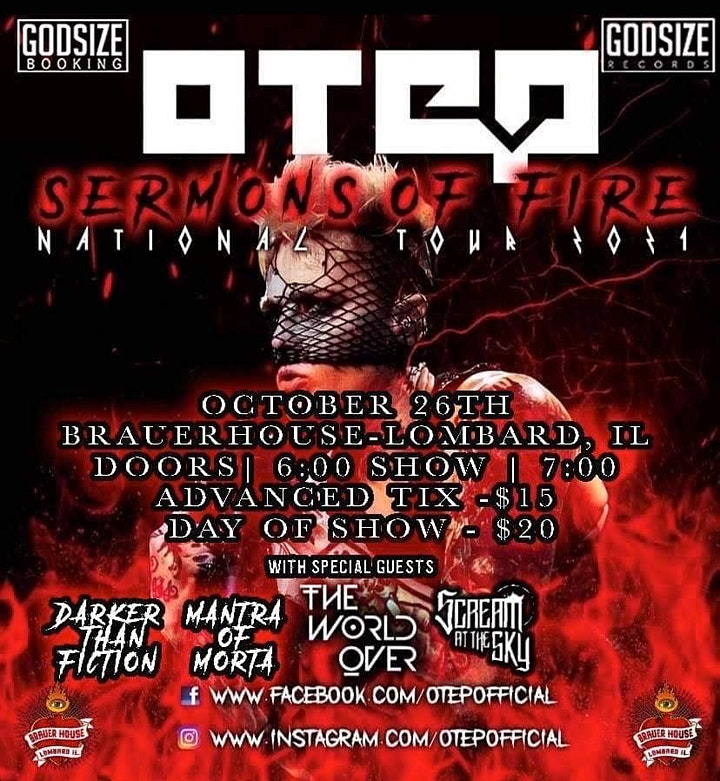 Otep with special guests The World Over • Mantra Of Morta and more... image