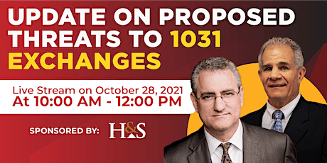 Update on Proposed Threats to 1031 Exchanges tickets