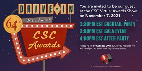 64th Annual  Canadian Society of Cinematographers Virtual Awards Gala tickets