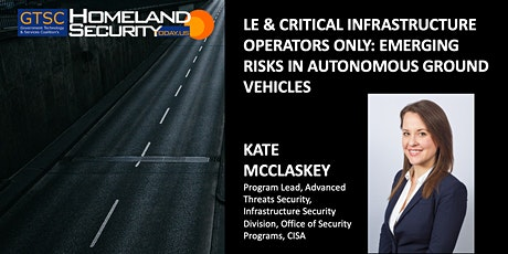 Emerging Risks in Autonomous Ground Vehicles tickets
