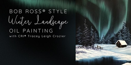 Bob Ross® Style Winter Landscape Oil Painting tickets