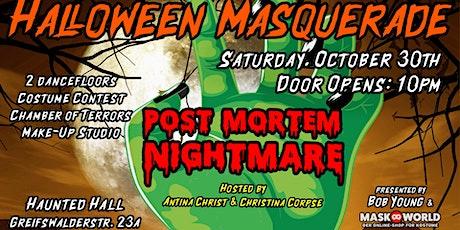 Halloween Masquerade 2021 *POST-MORTEM NIGHTMARE* by Bob Young & Maskworld Tickets