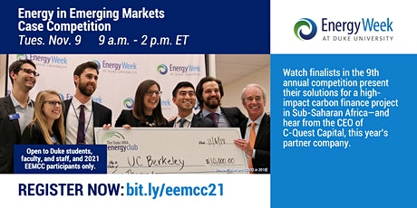 Energy in Emerging Markets Case Competition tickets