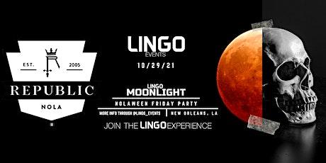 LINGO MOONLIGHT - HALLOWEEN PARTY tickets
