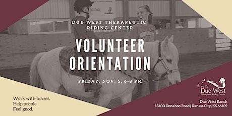 Due West TRC November Volunteer Orientation tickets