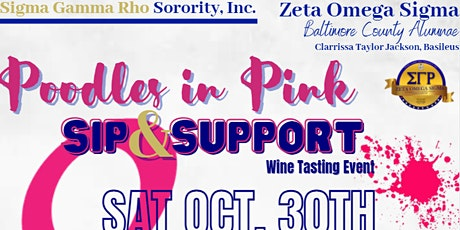 """""""Poodles in Pink"""" Sip & Support Wine Tasting Event tickets"""
