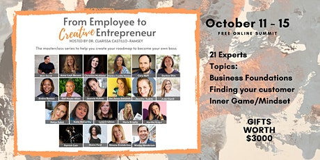 From Employee to Creative Entrepreneur  Summit tickets