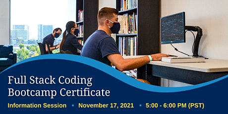 Full Stack Coding Bootcamp Certificate Info Session tickets