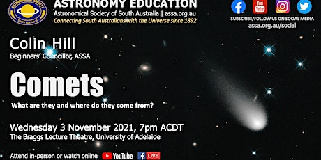 Comets | Astronomy Education by Colin Hill tickets