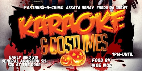 Karaoke and Costumes with special guest Partners-N-Crime tickets