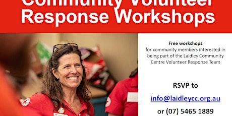 Community Volunteer Response Workshop; Understandng Psychological First Aid tickets