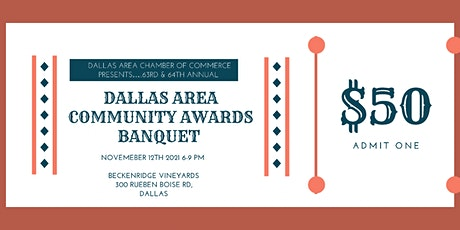 Community Awards Banquet by Dallas Area Chamber of Commerce tickets