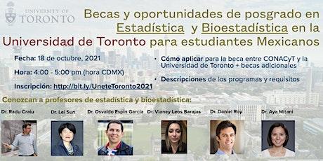 El posgrado en estadística/bioestadística en la Universidad de Toronto tickets