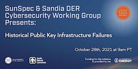 SunSpec & Sandia DER Cybersecurity Webinar: Historical PKI Failures biljetter