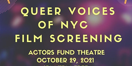 """Film Screening: """"Queer Voices Of NYC"""" tickets"""