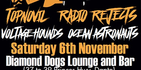 2nd SHOW!!  Topnovil + Radio Rejects + Voltage Hounds and Ocean Astronauts tickets