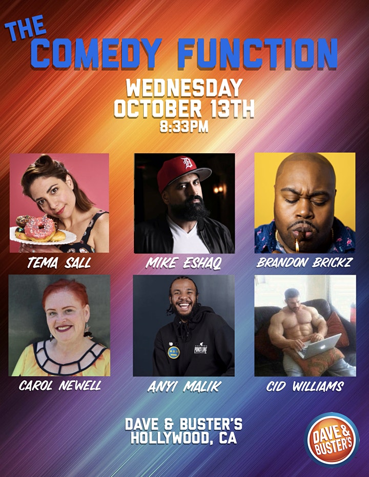 The Comedy Function at Dave & Buster's Hollywood image