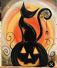Wine and Canvas - Halloween Cat! tickets