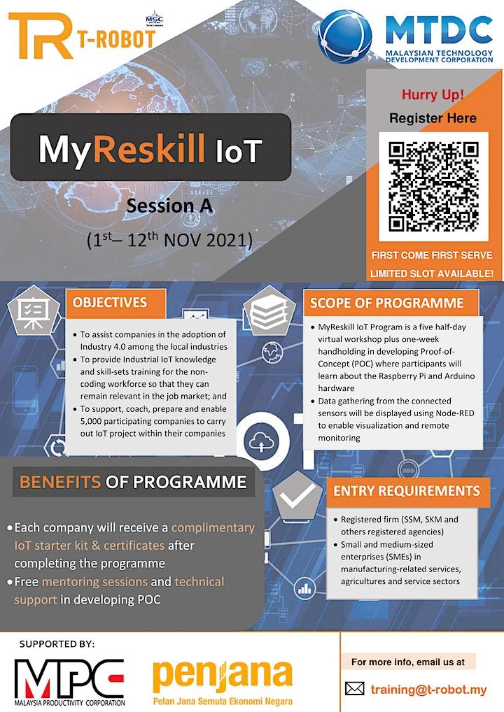 Registration MyReskill IoT_TROBOT_MTDC_SESSION A (1/11/2021 - 12/11/2021) image