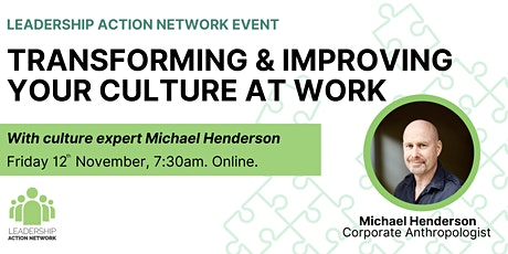 Transforming and Improving Your Culture at Work tickets