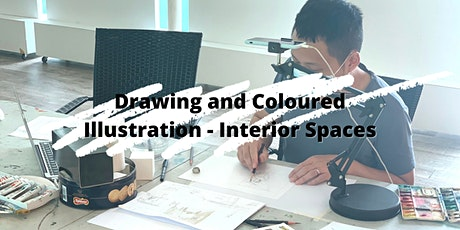 4 Sessions Drawing and Coloured Illustration - Interior Spaces ZOOM tickets
