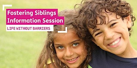 Live Fostering Siblings Information Webinar - NSW tickets