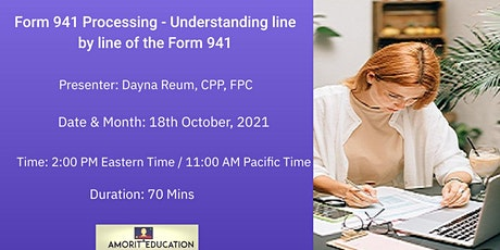 Form 941 Processing - Understanding line by line of the Form 941 tickets