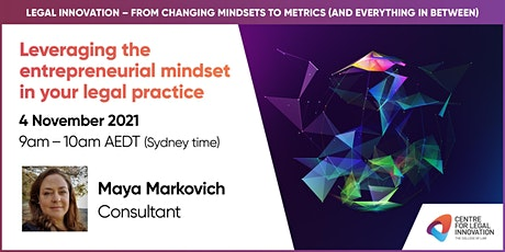 Leveraging the entrepreneurial mindset in your legal practice tickets