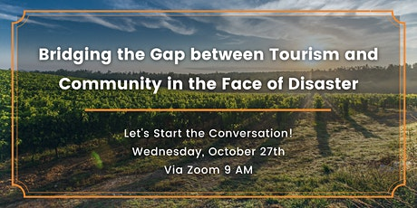 Bridging the Gap between Tourism and Community in the Face of a Disaster tickets
