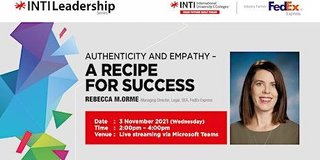 INTI Leadership Series - Rebecca M. Orme, MD, Legal, SEA, FedEx Express tickets