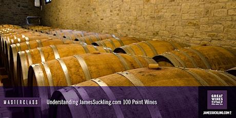 Exclusive James Suckling Masterclass: Understanding 100-Point Italian Wine tickets